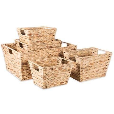 Natural water Hyacinth storage baskets