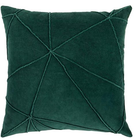 Rivet Modern Throw Pillow, 18 x 18, Botanical Green