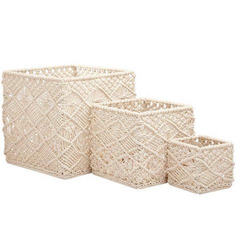 Stone and Beam Modern Handmade Baskets