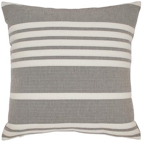 Stone & Beam Casual Striped Throw Pillow 17 x 17 Inch, Grey