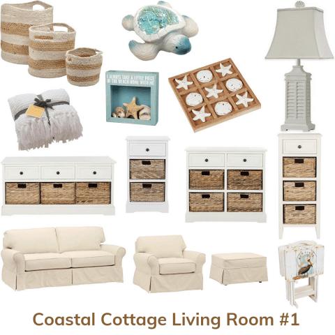 Coastal cottage living room 1