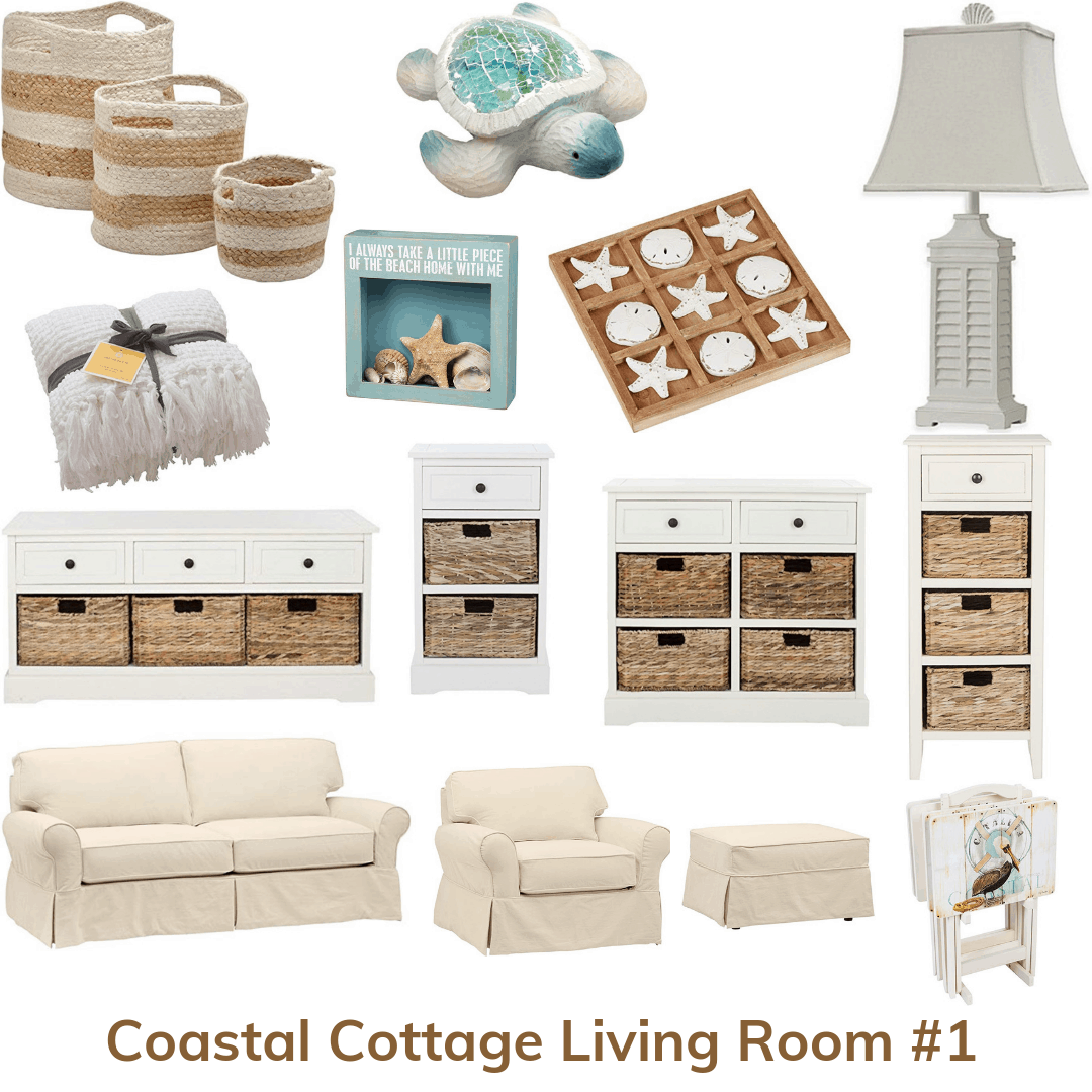 Coastal cottage living room 1