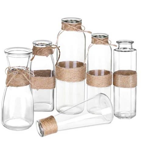 Moonla Glass Vases, Set of 6