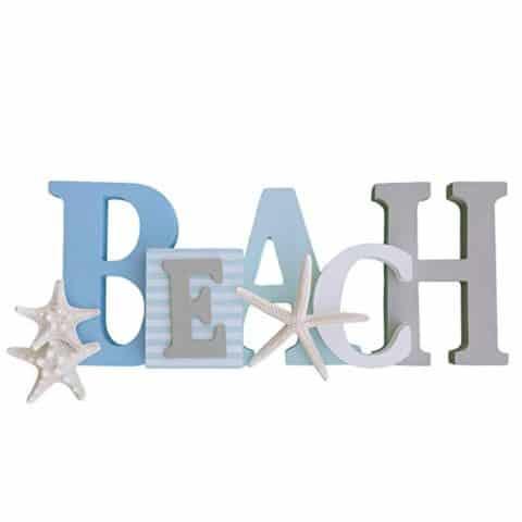Beach Sign with Three Starfish