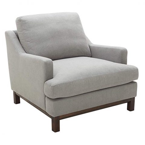 Stone and Beam Genesse Accent Chair, Smokey Blue