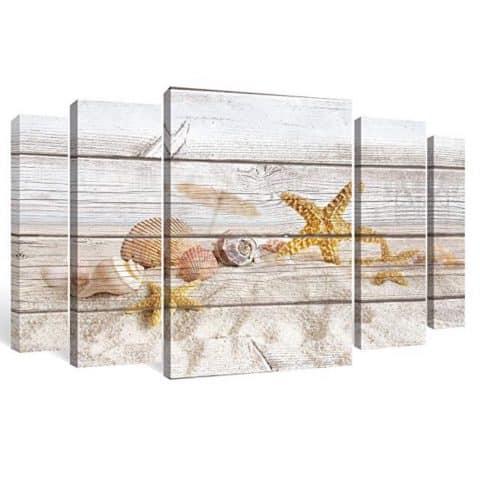 SUMGAR Large Wall Art Seashell and Starfish