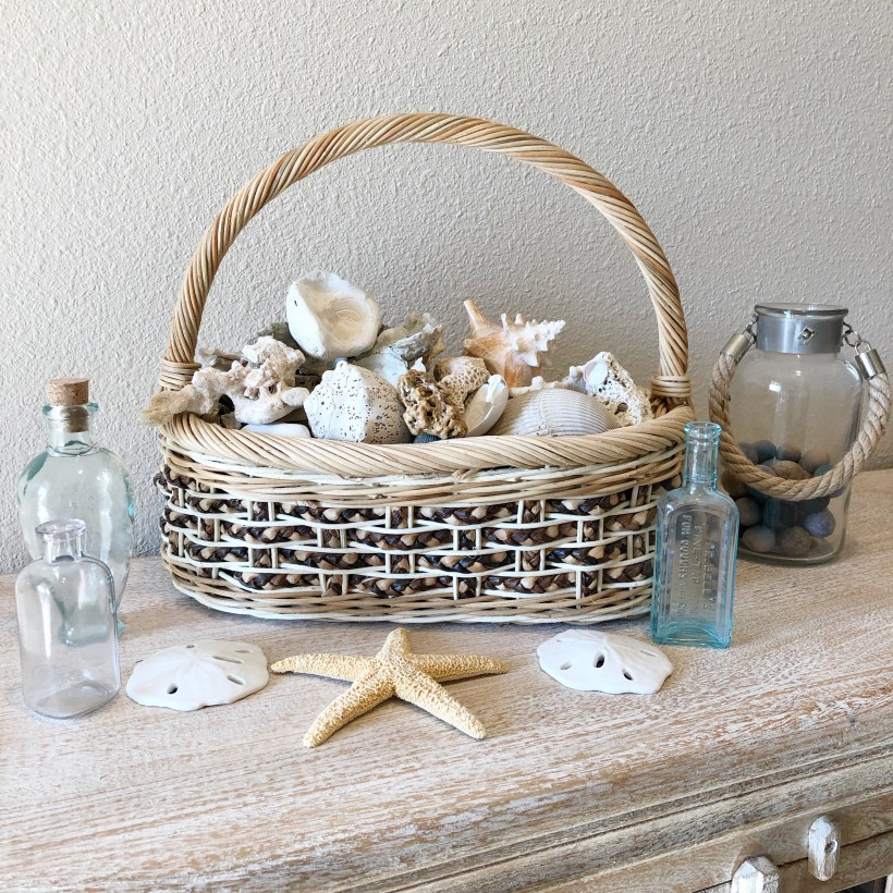Basket and seashells