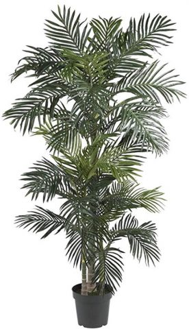 Nearly Natural Golden Cane Palm Silk Tree, 6.5 ft