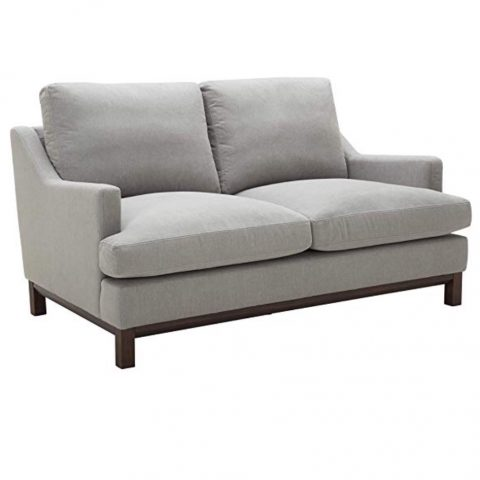 Stone and Beam Genesse Loveseat, Smokey Blue