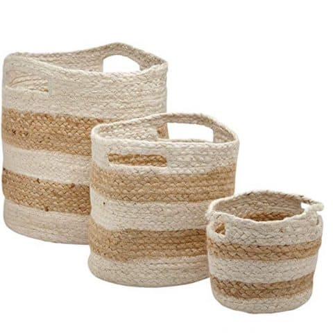 Rivet Modern Braided Baskets with Handles