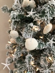 DIY Glitter Seashell Christmas Ornaments